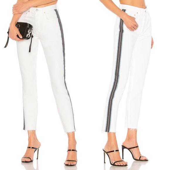 79bdcca3768 GRLFRND Karolina Crop Skinny Jeans White Striped